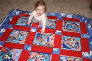 Front of handmade quilt for John