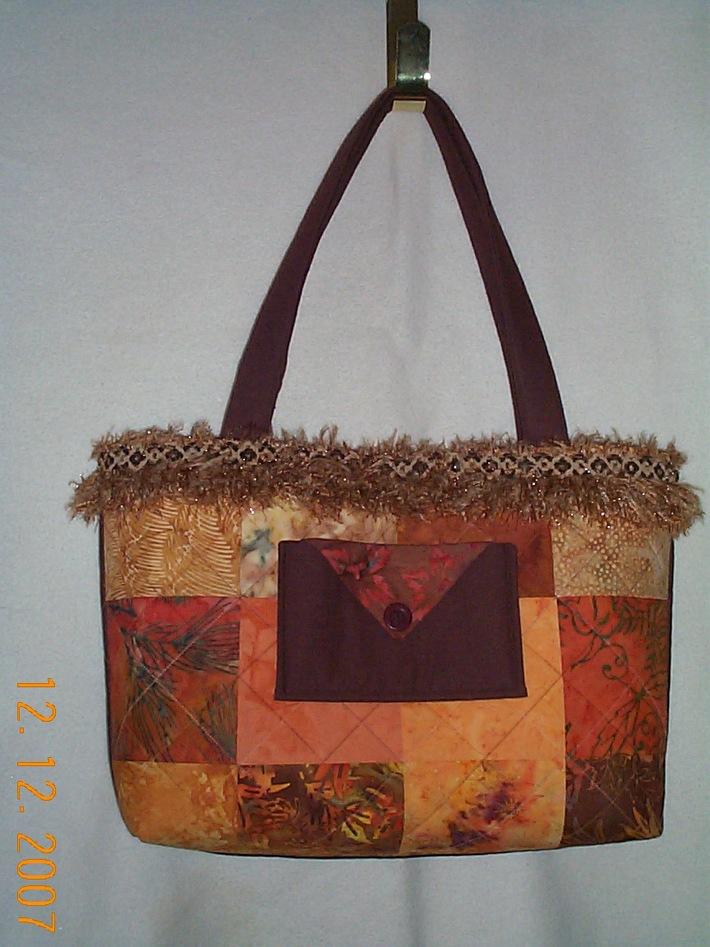 Batik fall tote