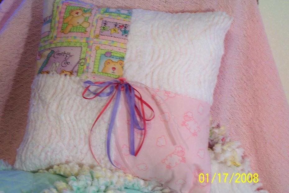 Hanna Rose's pillow to match quilt.