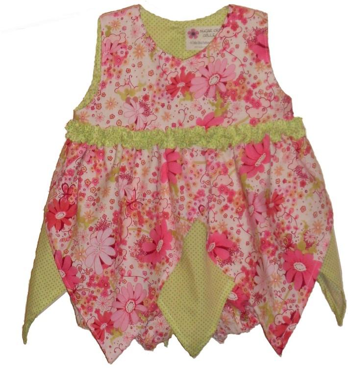 Floral Fantasma-Hanky Hem Dress w/bloomer