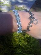 crystal bead bracelets I made