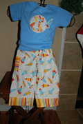 Personalzied Applique Rocket tshirt onesie and Lounge Pants