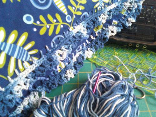 Posh Pillowcase with Crochet Edging