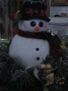 snowman head has a body.