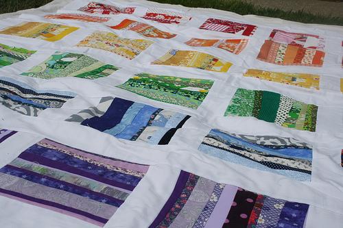Scrappy Rainbow Paintbox  Quilt