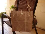 Saddle Stitch Suede Bag