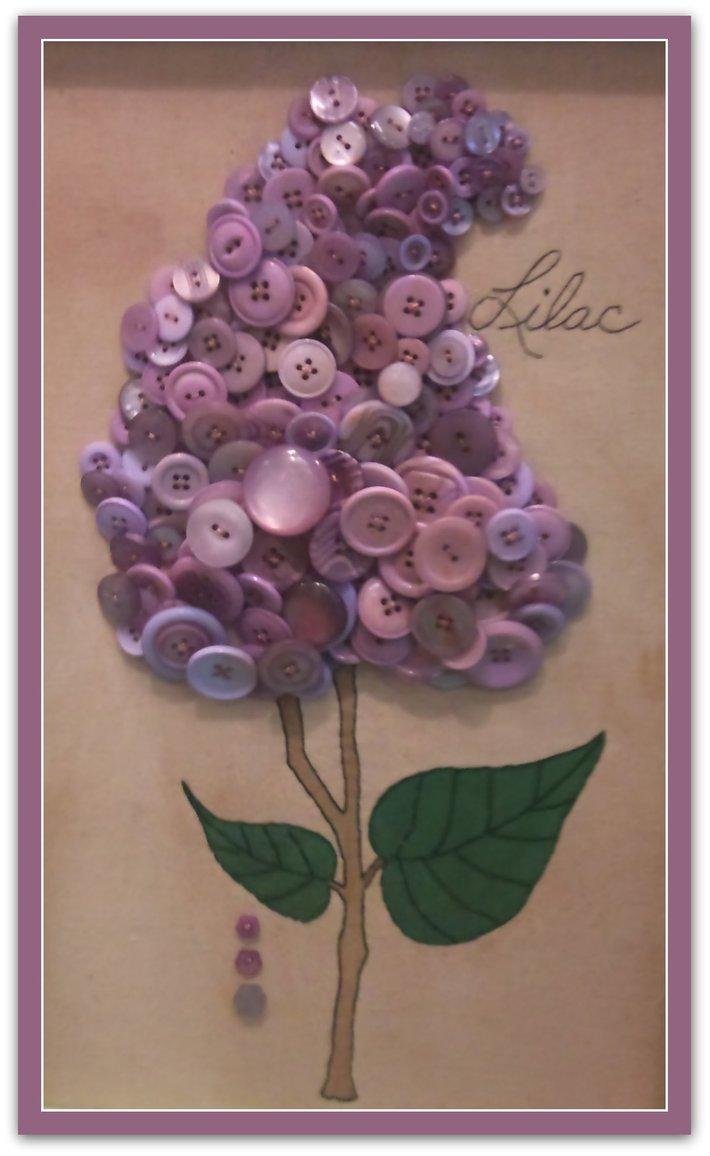 Lilac Button Art