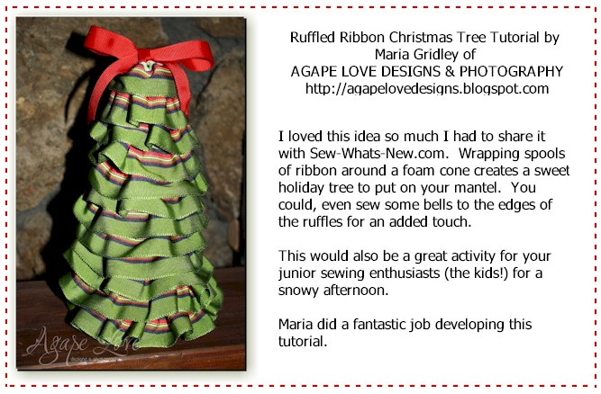 Ruffled Holiday Ribbon Tree Tutorial