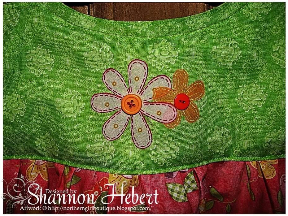 Flower dress applique