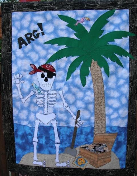 Mr. Bones Wall Hanging Pattern (Free!) by Carol from Fun Threads
