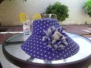 shady lady blue white polka dots