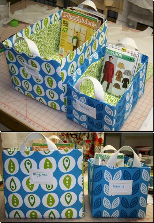 Sewing Room Storage Boxes - Tutorial