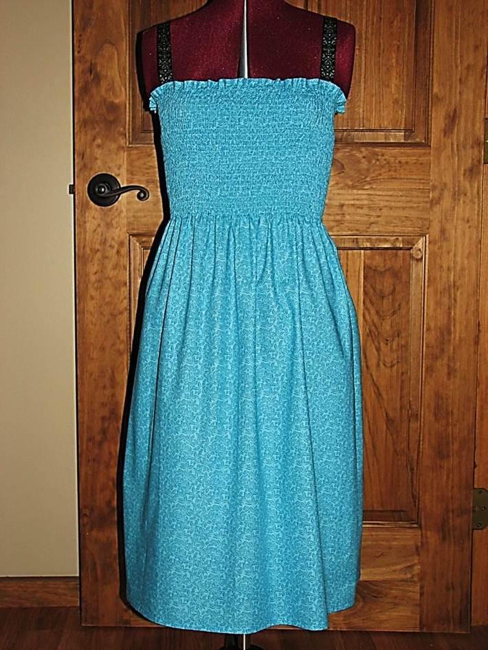 Hawian Blue Summer Dress