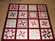 Pinwheel quilt top.