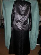 back of black satin a line abaya