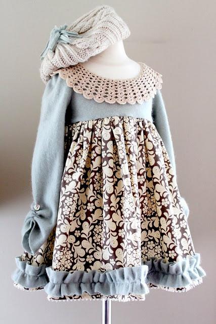 Sew a Whimsical Winter Wonderland Dress for Little Girls