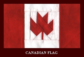 Paper Pieced Canadian Flag