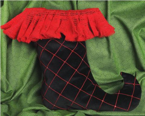 Serged Christmas Stocking