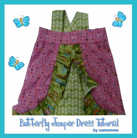 Butterfly Jumper Dress Tutorial by camomma