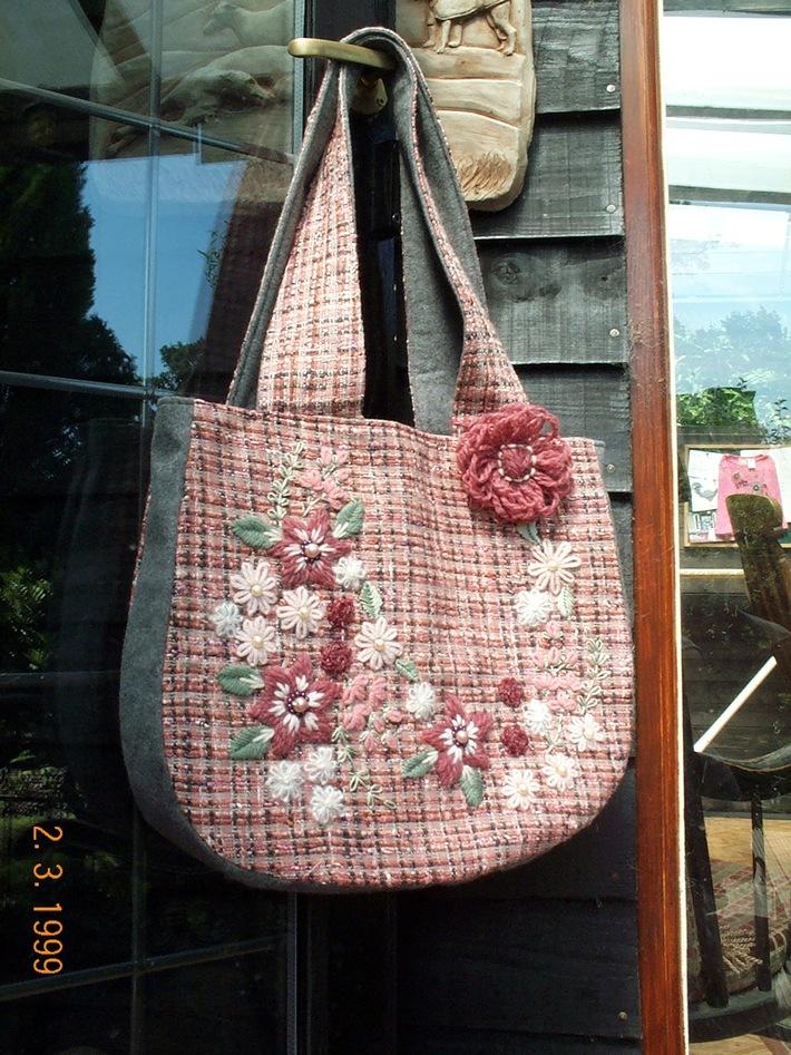 Pink flowered bag