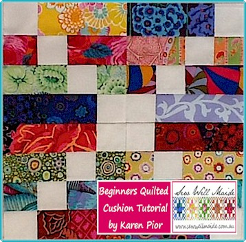 Beginners Quilted Cushion Tutorial by Karen Pior