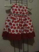 Red apple infants dress