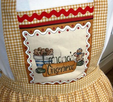 Gingham Gingerbread Apron
