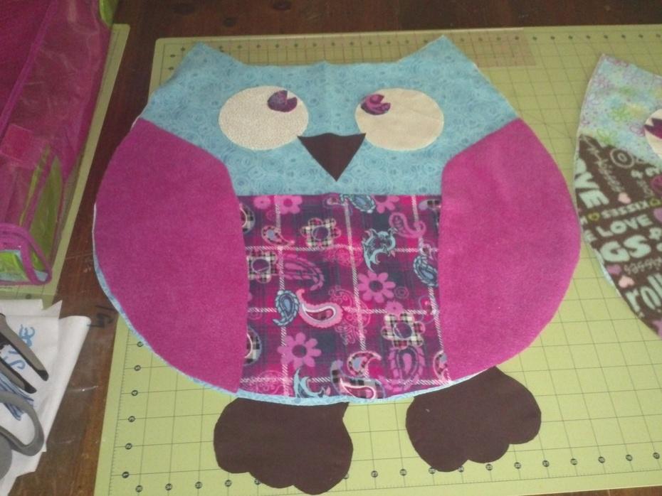 Owl plush pillow