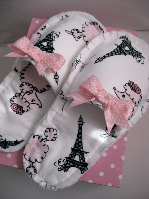 Pink Slipper Project - Free Slipper Pattern