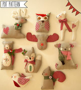 A Holiday Softie Ornament Sewing ePattern Round Up!