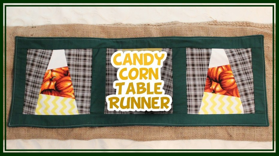 Quilt a Candy Corn Table Runner - Whitney Sews!