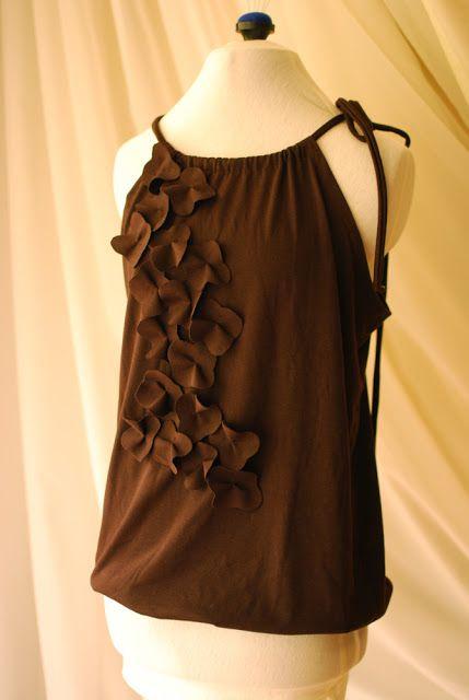 Sleeveless Cascading Petal Shirt - A Free Sewing Tutorial