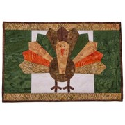 Free Pattern: Let's Talk Turkey! - Quilted Thanksgiving Placemats Applique Pattern