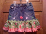 Denim Christmas Skirt