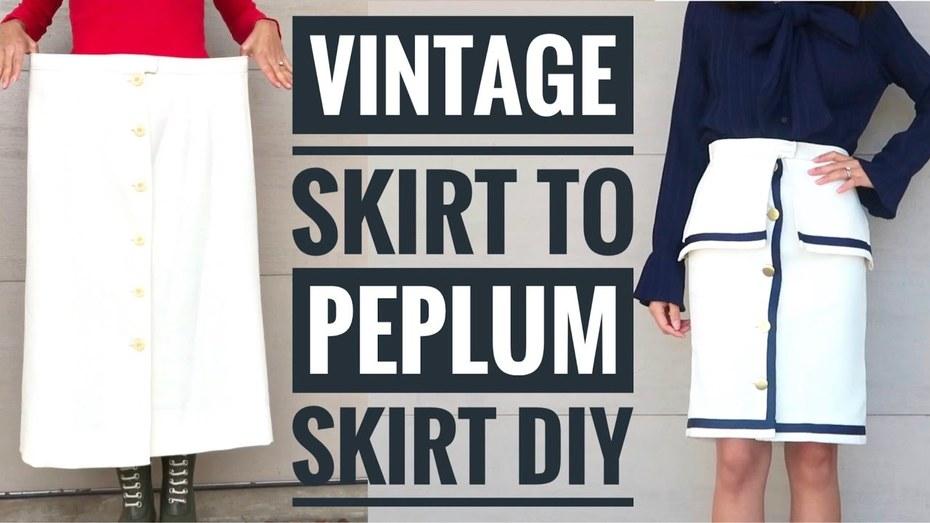 How to Convert an Old Skirt to Sailor-inspired Peplum Skirt with Sarah Tyau