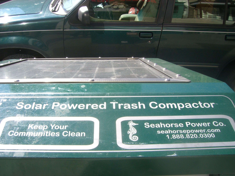 Solar Powered Trash Compactor
