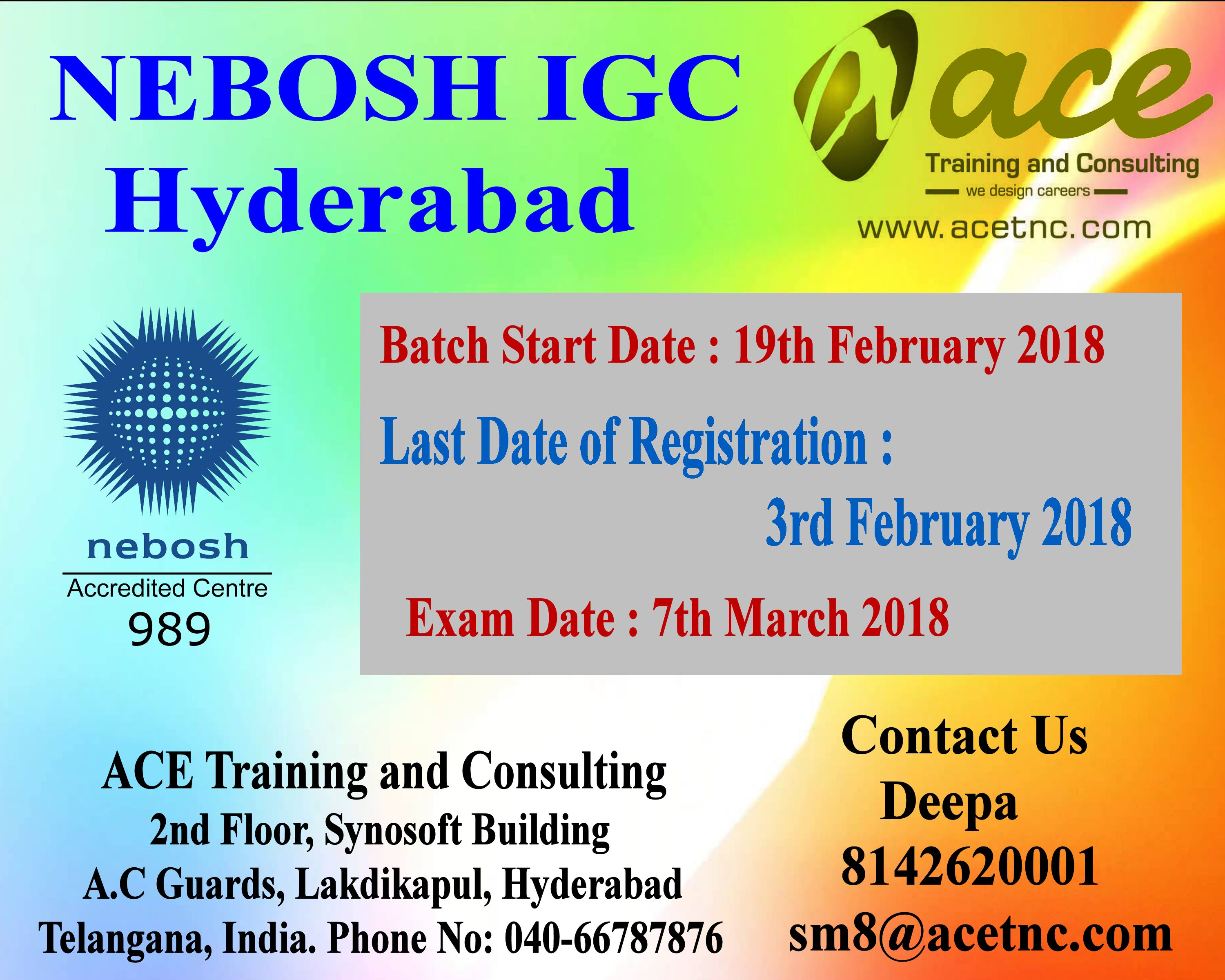Nebosh IGC 7th March 2018 - Deepa