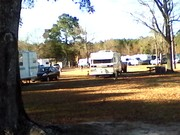 Back of my trailer from pond at Quiet Oaks RV Park