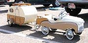 Classic car and Trailer.