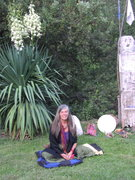 """At home with my totem pole,"""" Rehue"""""""