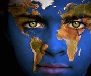 EARTH FACE blue