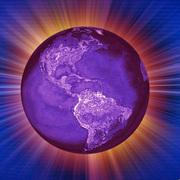 GLOBE VIOLET EARTH