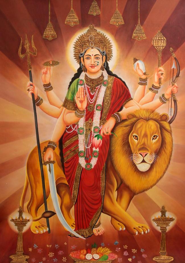 8 armed goddess