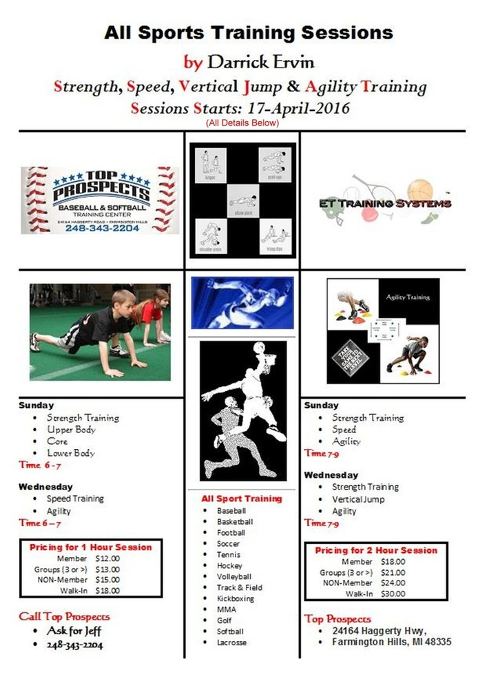 All Sports Training Sessions by Darrick Ervin