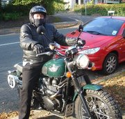 Mark on motorbike