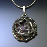 Purple sphere necklace