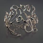 organic swirl cuff bracelet