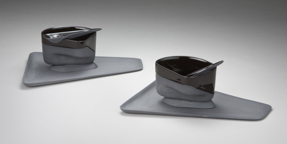Black Cup, Spoon & Saucer