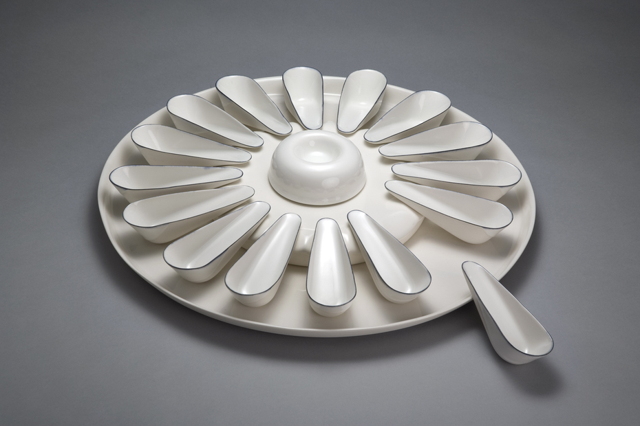 Appetizer Platter with Spoons.  Detail