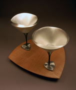 Martini Cups and Tray